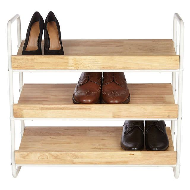 buyhouse by john lewis 3 tier shoe rack online at