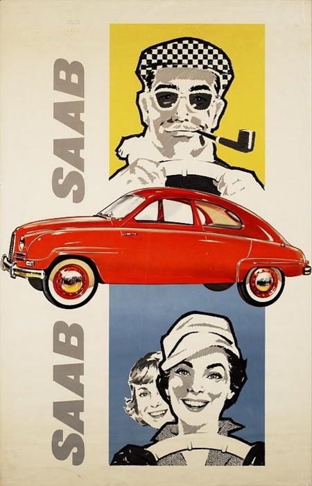 Vintage Saab ad (1958), via Martin Klasch.