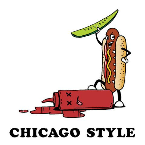 Chicago Style Hot Dog T-Shirt  Get it here >> http://thehecklerstore.com/products/chicago-style-hot-dog-t-shirt
