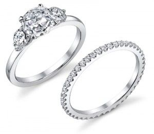 Belle Wedding Rings. Simple and beautiful.