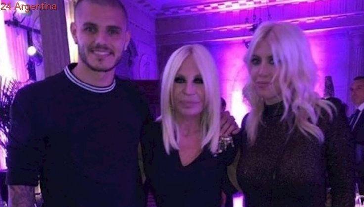 Top: Wanda Nara y Mauro Icardi, en una cena íntima con las estrellas de la moda