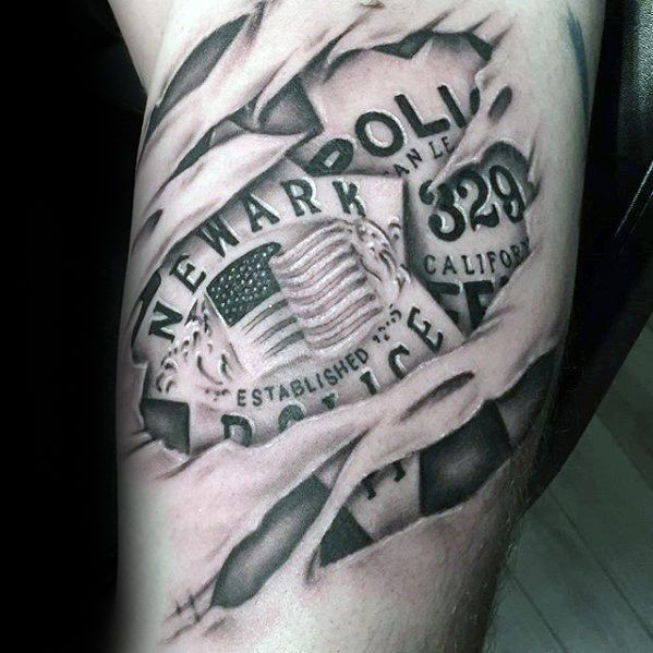 Top 47 Police Tattoo Ideas 2021 Inspiration Guide Police Tattoo Police Officer Tattoo Tattoos For Guys