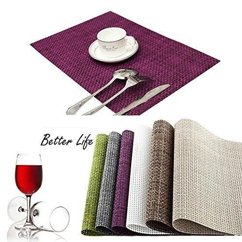 ... Fashion PVC Dining Table Mat Insulation Heat Insulation Stain Resistant  Disc Pads Bowl Pad Coasters Waterproof Table Cloth Pad Slip Resistant Pad  Set Of
