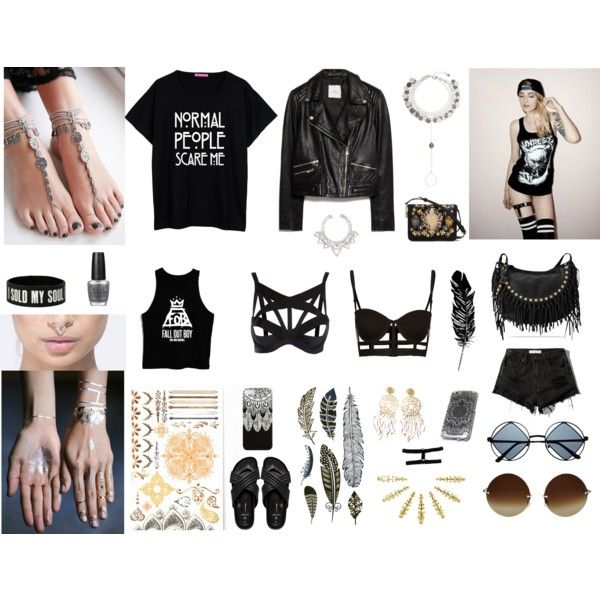 Gypsy rock by madelen-reinholdtsen on Polyvore featuring MANGO, Abercrombie & Fitch, Agent Provocateur, Pieces, Valentino, Dolce&Gabbana, Forever 21, Monsoon, Free People and VidaKush