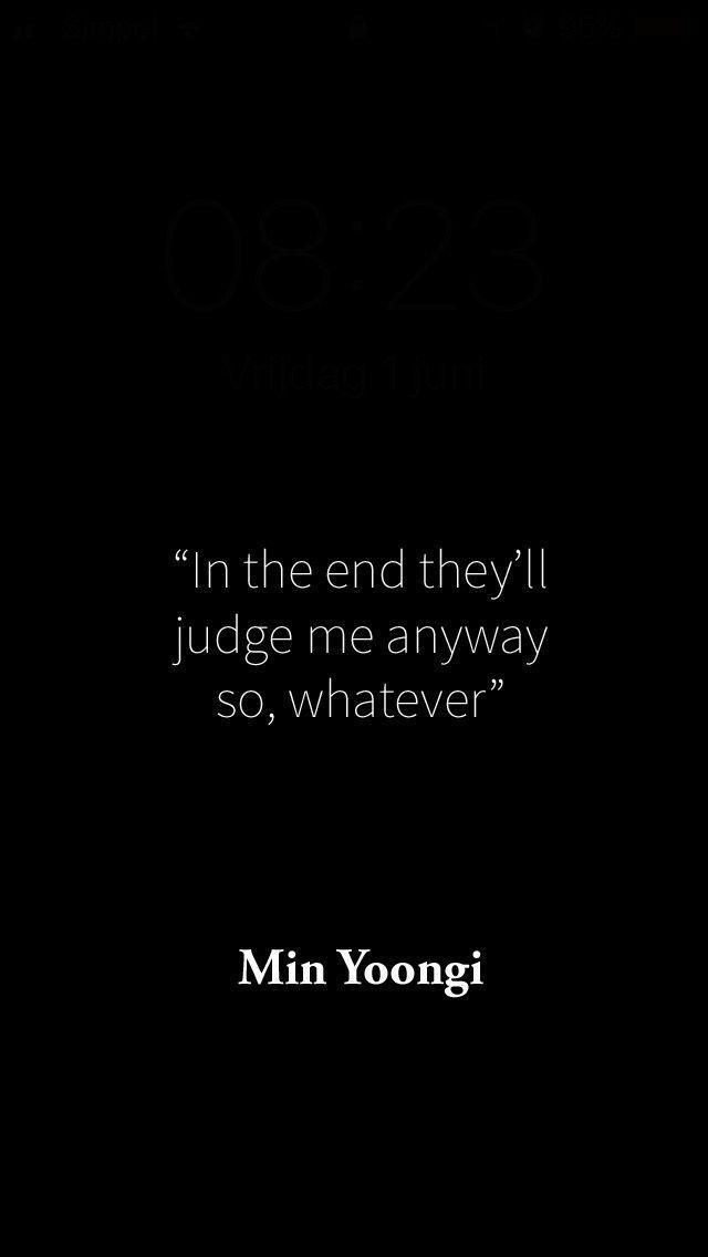 Min Yoongi (Suga) quote / bts background – Noelle