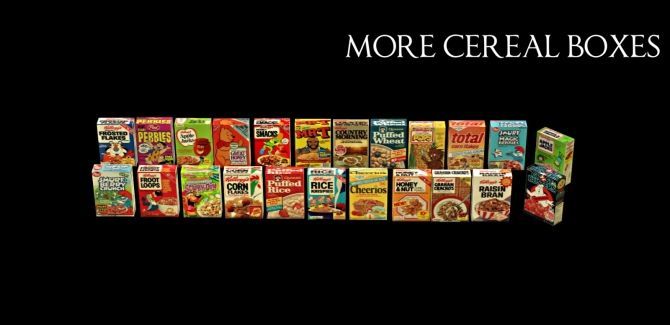 MORE CEREAL BOXES at Leo Sims • Sims 4 Updates   Sims 4 ...