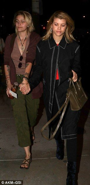 Paris Jackson (age 18) and Sofia Richie (age 18) in March 2017.