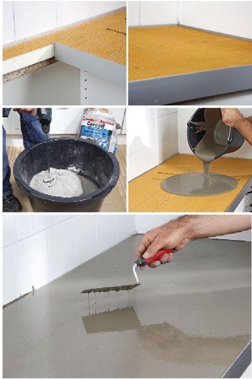 Il piano della cucina in cemento è una soluzione innovativa ottima per dare nuovo volto alla vostra cucina. http://bricolage.bricoportale.it/costruzioni-fai-da-te/cucina/kerdi-board
