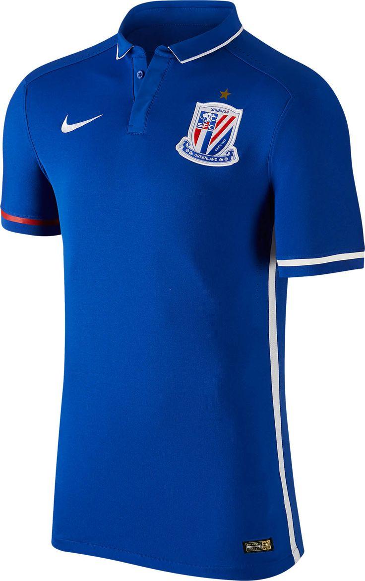 Nike Maillot de football Striped Division II Bleu Blanc
