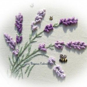 Lavender drizzle stitch (pattern to buy)