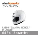 Casco Arai Quantum con calotta esterna in SCLC, presa d'aria mentoniera implementata e visiera ampliata in offerta a 638 euro, con un risparmio di oltre 120 euro, solo da Wheelup!