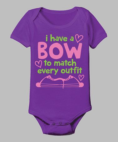 Take a look at this Purple 'A Bow To Match Every Outfit' Bodysuit - Infant by Country Casuals on #zulily today!