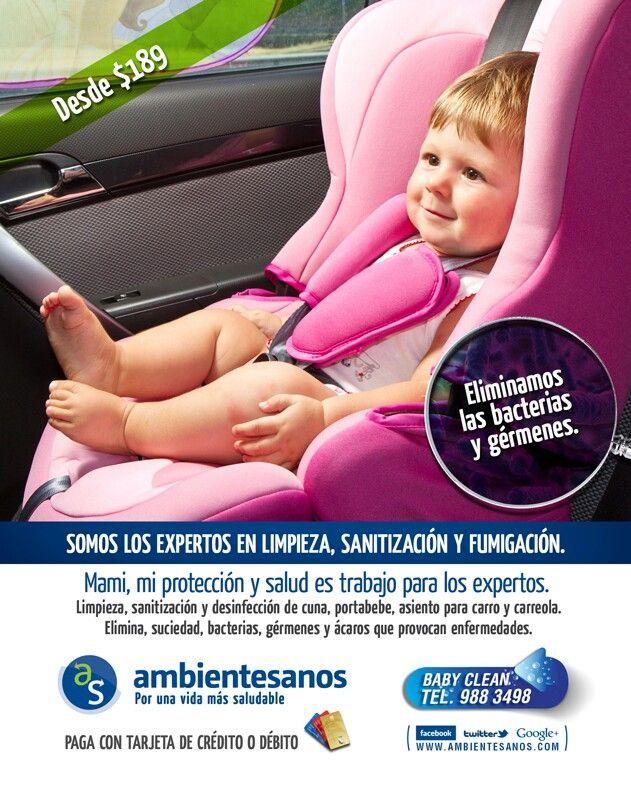 Limpieza, sanitización y desinfección de portabebe, asientos para carro, cuna, carreola, cuna portátil #BabyClean