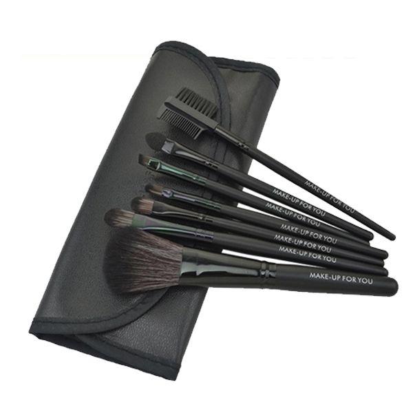 Купить товарЧерный новое профессиональный 7 шт. комплект кистей для макияжа инструменты туалетных комплект шерсть кисти для макияжа указан чехол в категории Кисти и инструменты для макияжана AliExpress.    Brand New Professional 7 pcs Makeup Brush Set tools Toiletry Kit Wool Brand Make Up Brushes Set CaseUS $ 3.39/lotPurp