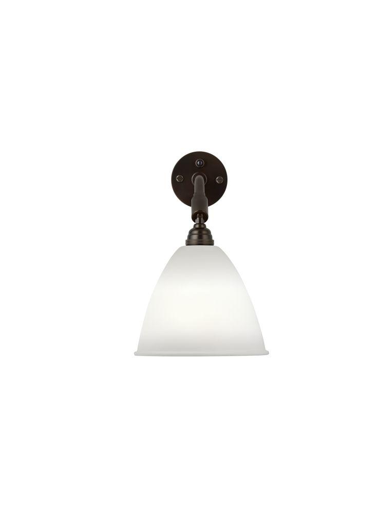 GUBI // Bestlite BL7 Wall Lamp in bone china/black brass