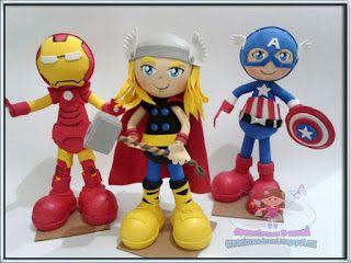 creaciones D Moni: Ironman, Thor y capitan America