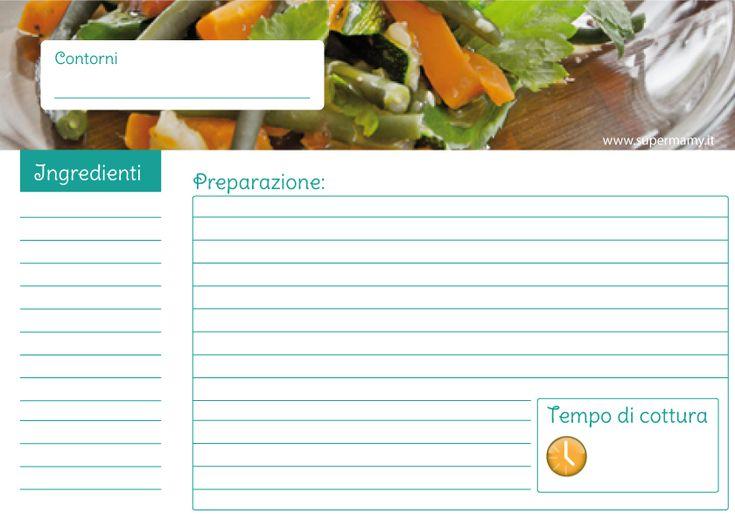 Supermamy.it | Schede per ricette di cucina [DOWNLOAD GRATIS] | http://www.supermamy.it