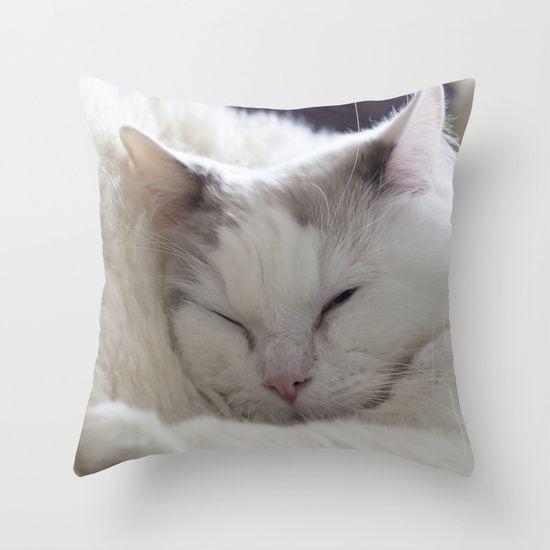 Ragdoll Cuddles Cushion by Deborah Janke