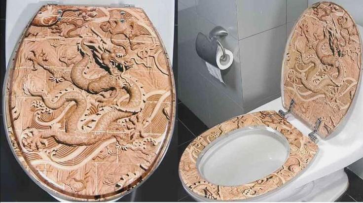 Dragon decorative hard toilet seat ok i like dragons as - Decorative toilet seat covers ...
