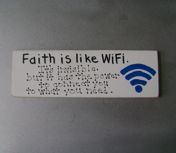 Faith is like WiFi Christian Inspirational Shelf by ifrogcrafts, $6.00