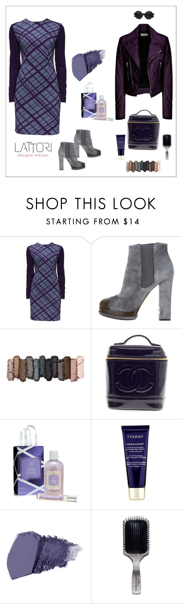 """""""'Calm Curves' Long Sleeves, Knitted Casual Dress"""" by lattori ❤ liked on Polyvore featuring Lattori, Balenciaga, Chanel, Urban Decay, By Terry, Jane Iredale, Cricket, Kuboraum, dress and dresses"""