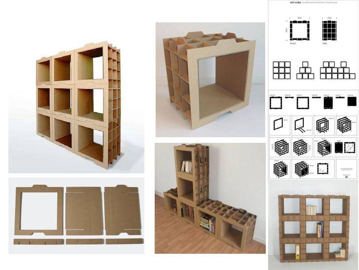 Muebles modulares de cartón, hazlo tu mismo leer más http://ecoinventos.com/muebles-modulares-de-carton-hazlo-tu-mismo/