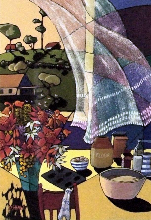 Artist: Doreen Shaw - Title: A Gentle Breeze (65.00 cm X 90.00 cm)