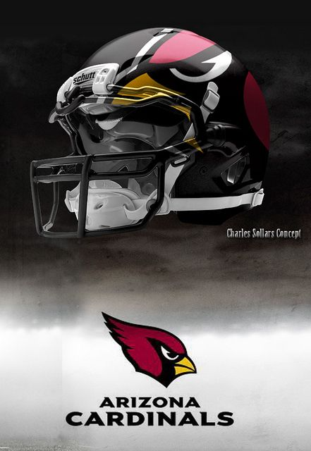 Arizona Cardinals helmets