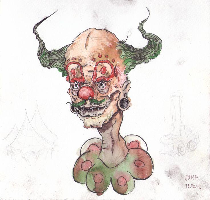 #Clown #YNNP #watercolor