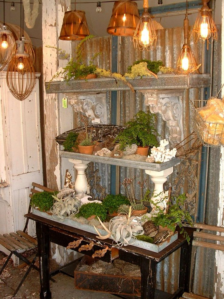 I love this for the inside of the potting shed.