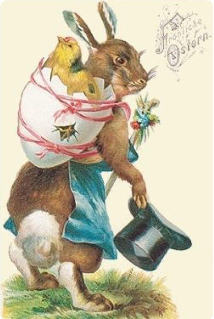 Поздравления елена, пасхальные ретро открытки с кроликами