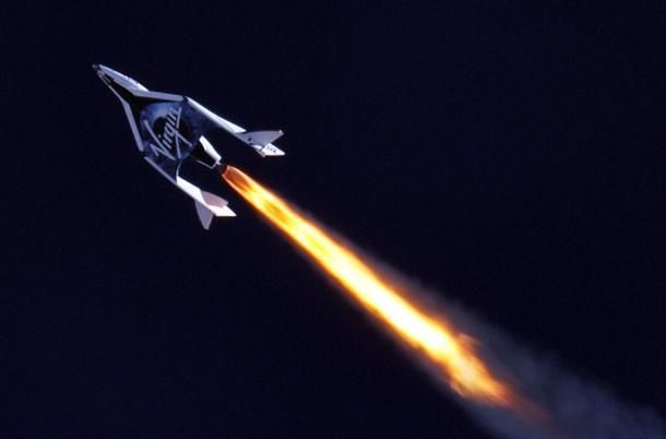 SpaceShipTwo fires rocket engine in supersonic flight - CNET News via @CNET