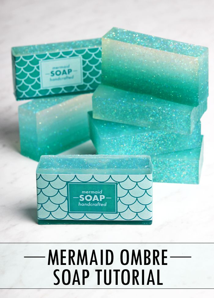 Mermaid Melt and Pour Soap Tutorial