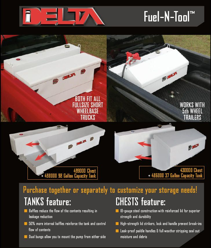 Delta Fuel And Tool Truck Toolbox And Transfer Tank Combination With Images Transfer Tanks Truck Tool Box Trucks