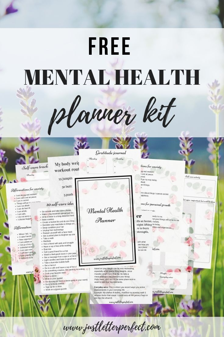 Free 12-Page Mental Health Planner Bundle!
