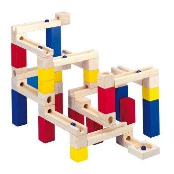 Cochecito de juguete fabricado en madera de haya para pasear las muñecas o peluches. (53 x 35 x 54 cm) (+ de 3 años)