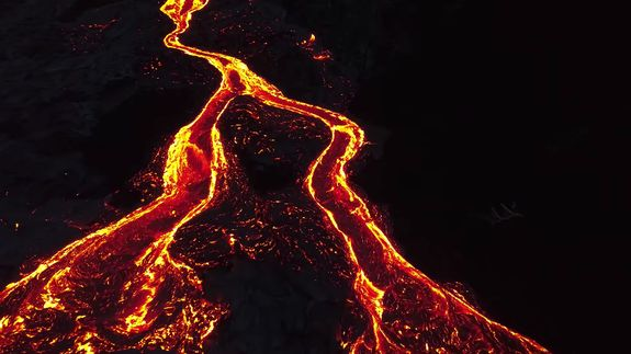 Turn off your mind relax and float down a red hot stream of lava from a Hawaiian volcano