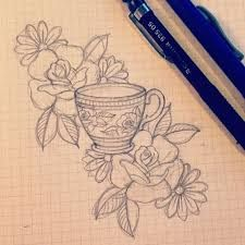 Image result for teacup tattoo                                                                                                                                                                                 More