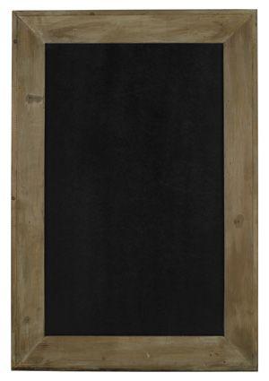 Tableau rectangulaire grand format en bois peint ardoise Athezza