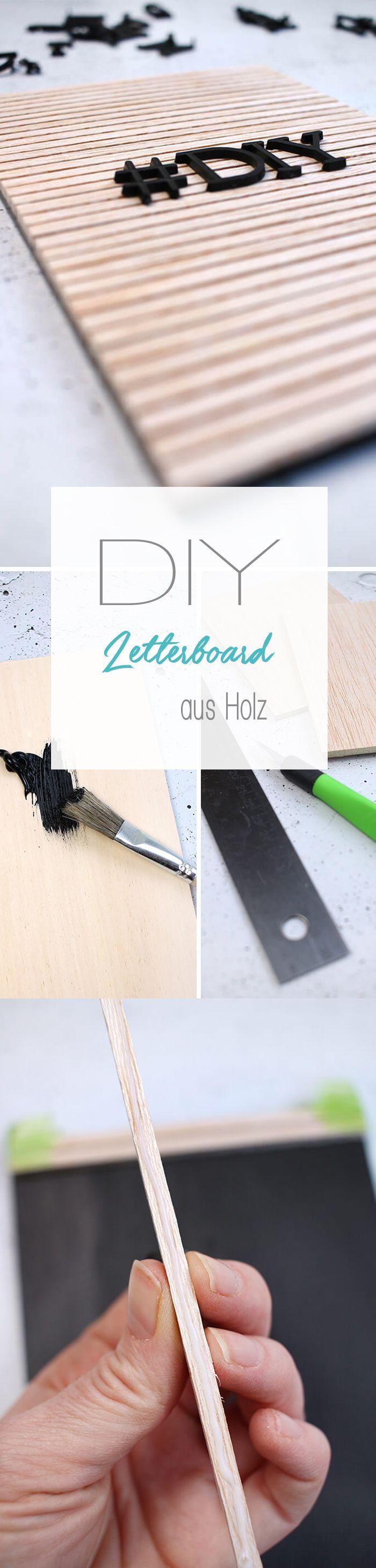 Dani vom DIY Blog Gingered Things zeigt dir wie du aus Holz ganz einfach ein cooles Letterboard im skandinavischen Look selbst basteln kannst. Auch prima als Geschek mit individuellen Sprüchen.