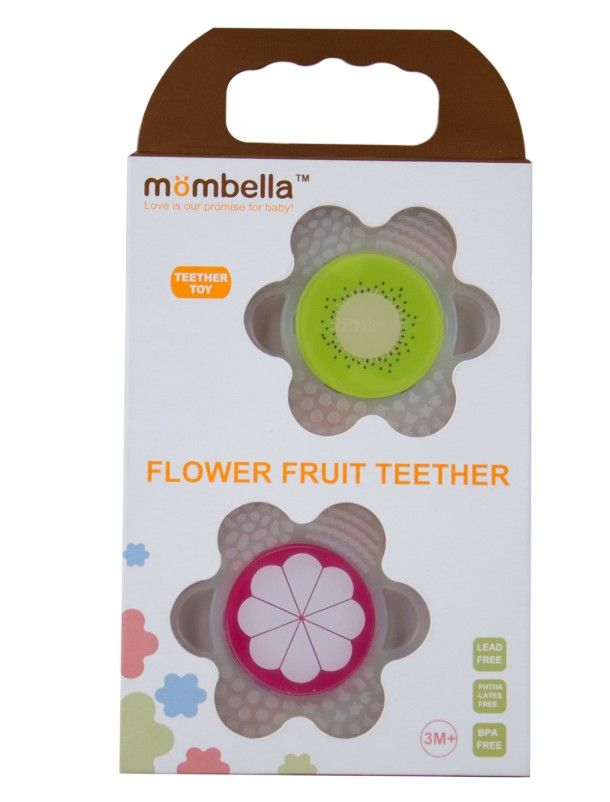 mombella baby teether, 2 pcs value pack, packed with a gift box