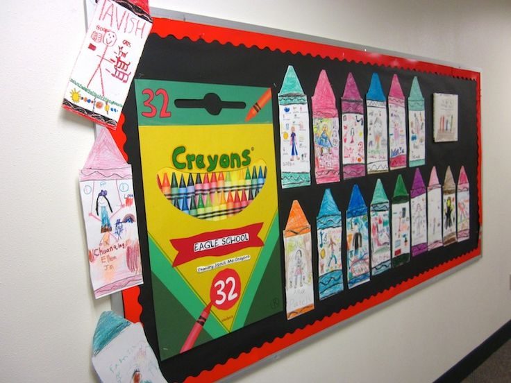 Crayon Bulletin Board Get to know you ideas