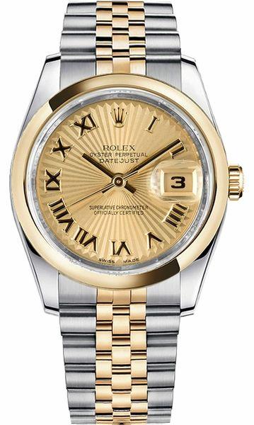 ada96444c4d Rolex Datejust 36 Gold   Steel Automatic Men s Watch 116203