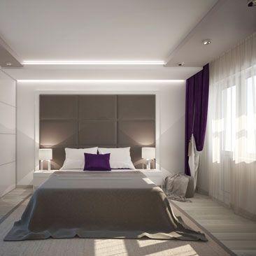 """Проекты спальных комнат - услуги дизайнеров. Спальни в стиле """"Минимализм""""."""