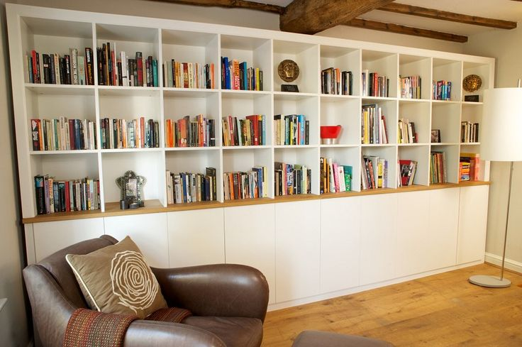 Mike Jones Furniture - handmade bespoke furniture and cabinet making - Painted Bookcases - Case Study