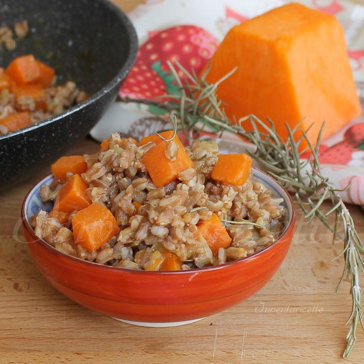Zuppa di farro e zucca al rosmarino | Zuppa d'autunno