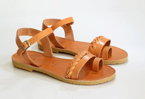 Sandals, Leather sandals women, Handbraded ankle strap sandals, Greek sandals