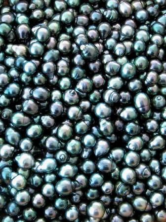 Lexie-- These black pearls are really interesting because they reflect different colors. They are black with iridescent reflections. You can see shades of purple, blue, grey and green.