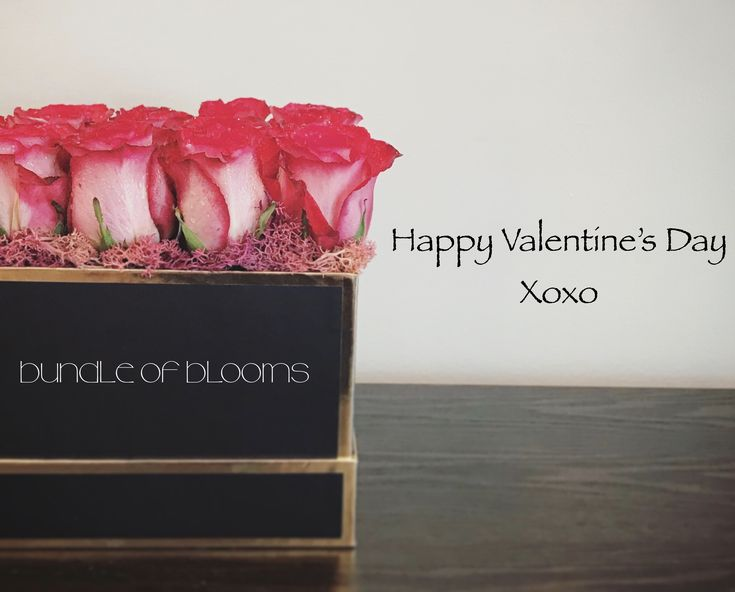 Happy Valentine's Day Rose Box