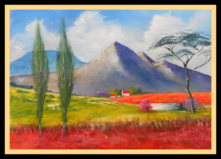OFS S.A.  Farm Scene. another attempt at bright colours. Printed on 27/08/2013. size 410 mm x 600 mm. for Sale $ 35